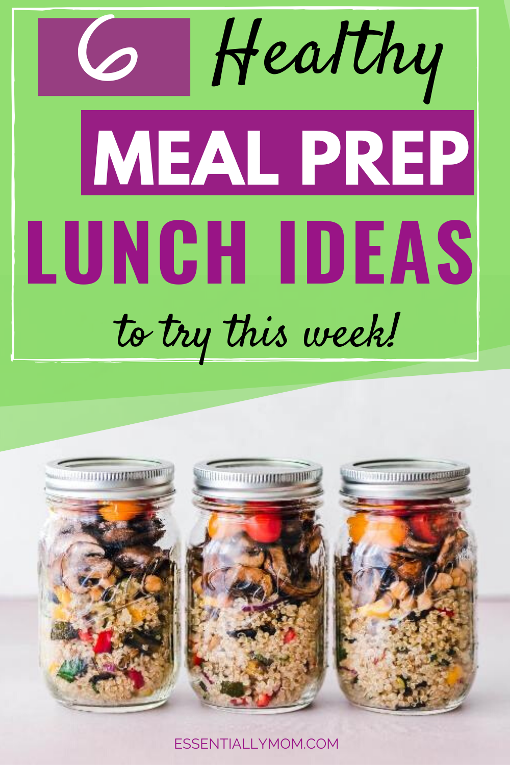 Looking for same time and money? Meal planning is the way to go. These 6 healthy meal prep lunch ideas can be made ahead of time and are easy to make.