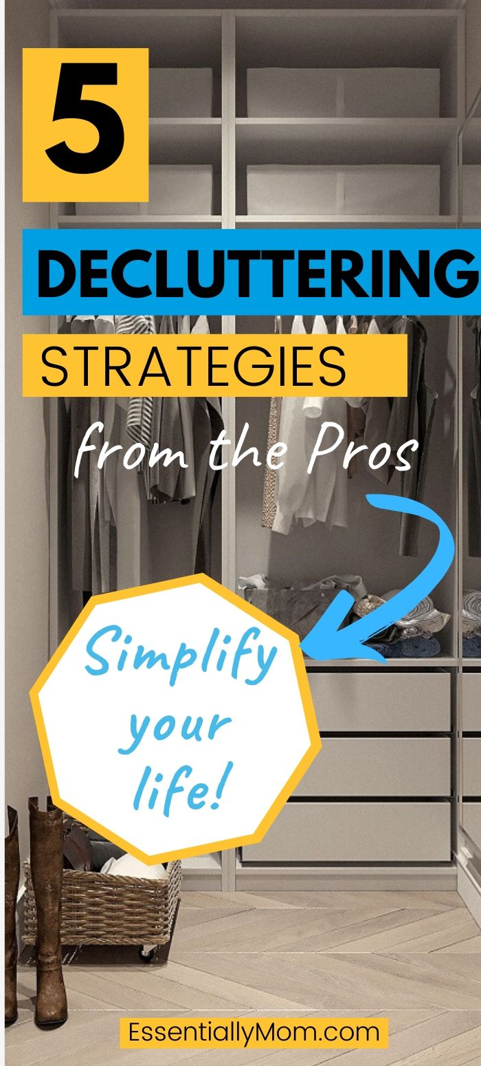 simplify your life, decluttering tips from the pros