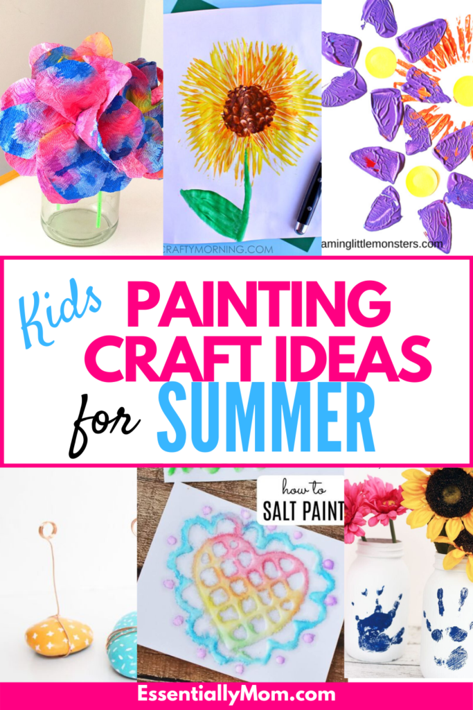 If you're looking for some ideas to keep the kids busy at home this summer, be sure to check out my list of 25 fun kids painting craft ideas.