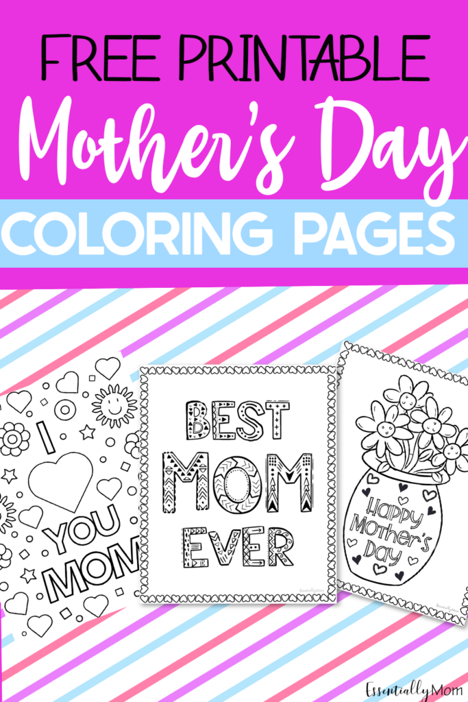 Mother's Day is just around the corner! These free printable Mother's Day coloring pages are a great way to celebrate Mom on her special day.