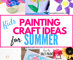 Looking for ideas to keep the kiddos busy at home this summer? Be sure to check out my list of 25 fun kids painting craft ideas. Kids Painting Craft Ideas,fun summer craft ideas for kids,easy summer craft ideas kids,summer craft ideas kids,fun summer crafts kids
