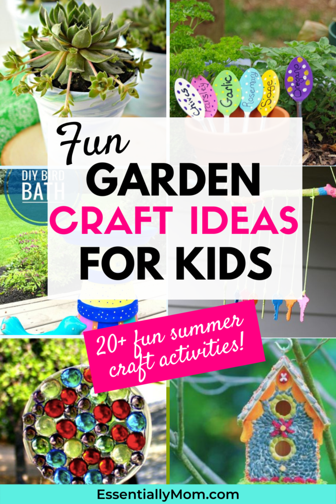 Looking for some fun and easy craft activities to do with the kids? These 24 garden craft ideas for kids cure boredom and make great gifts for mom or dad.