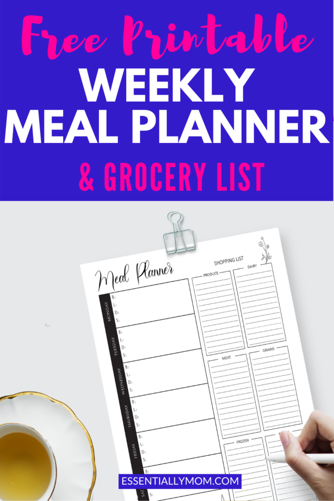 black and white printable meal planner,weekly printable meal planner,printable meal planner free,free printable meal planner,printable 7 day meal planner, free blank weekly meal planner