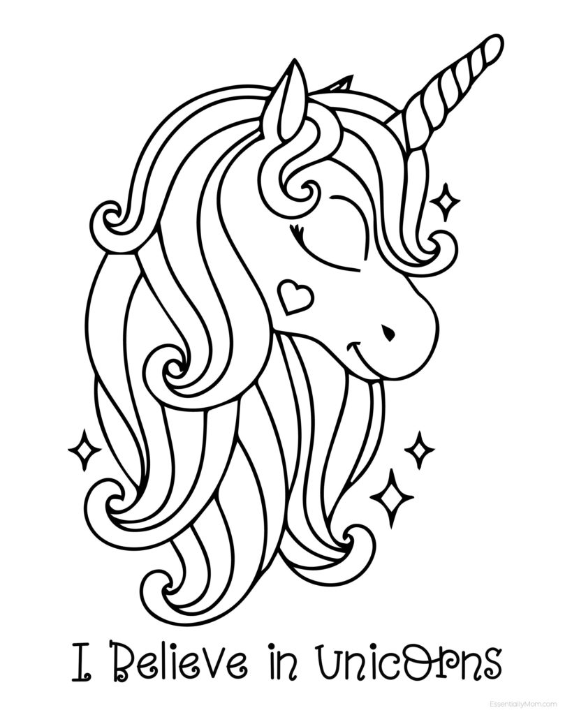 FREE Unicorn Coloring Pages Printable for Kids | Unicorn ...