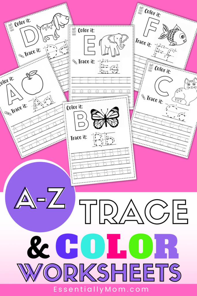 FREE Alphabet Tracing Worksheets For Preschoolers