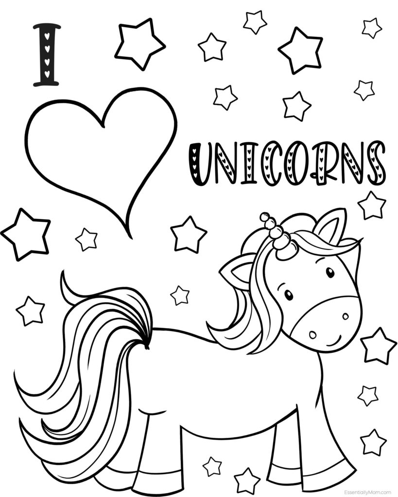 Free Unicorn Coloring Pages Printable For Kids Unicorn Coloring Book