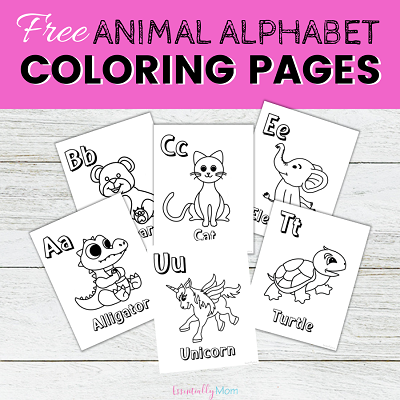 Printable Animal Alphabet Coloring Pages - Essentially Mom