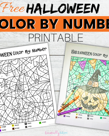 halloween colour by numbers,halloween color by number printable