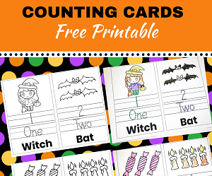 halloween trace and color counting cards,halloween printable activity sheets,halloween printable activity pages,halloween tracing numbers