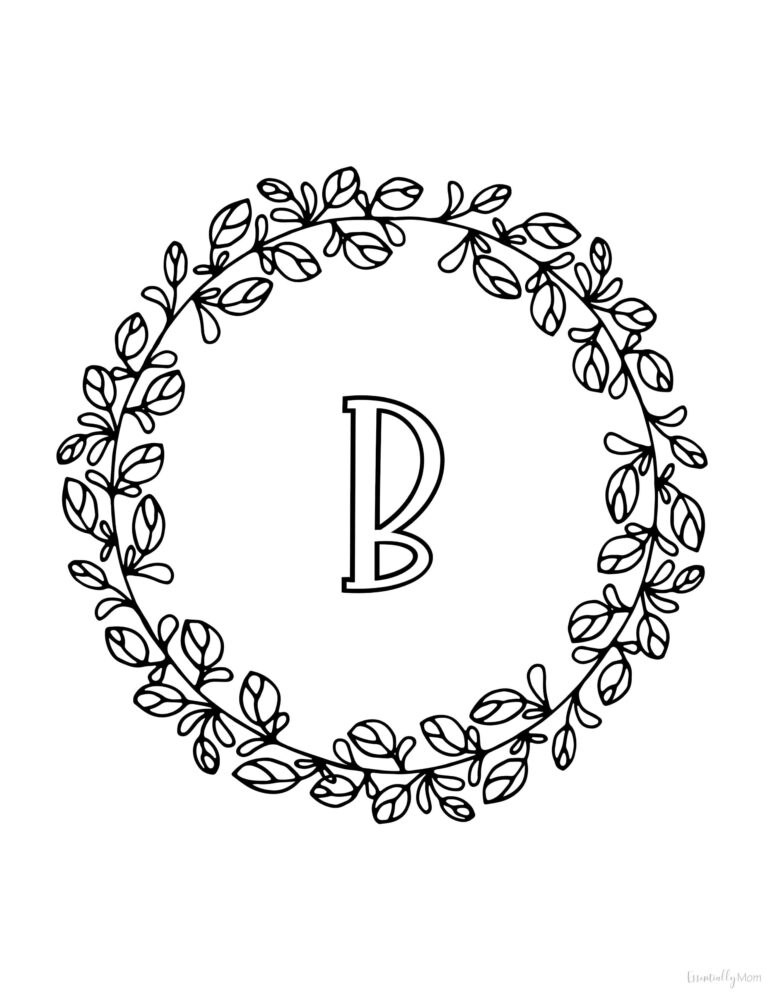 monogram initial wall art,printable initial wall art,monogram letter wall art,monogram coloring pages