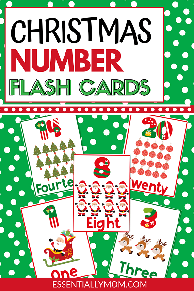 christmas number flashcards,printable number flashcards,christmas number flash cards,pre k number flash cards,number flash cards printable free