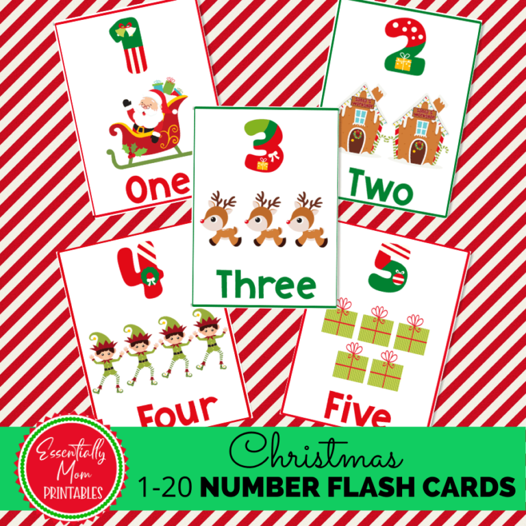 christmas number flashcards,printable number flashcards,christmas number flash cards,pre k number flash cards,number flash cards printable free