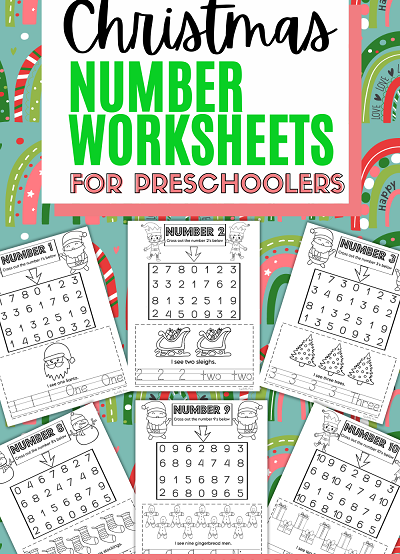 Christmas Math Printables for Preschoolers,pre k number worksheets printable,free printable math worksheets pre k, preschool number worksheets,number tracing printable preschool, number tracing printable pre k
